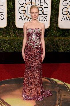 Kate Bosworth wears Dolce & Gabbana at the Golden Globe awards 2016