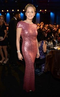 Sharon Stone at the Critics Choice awards